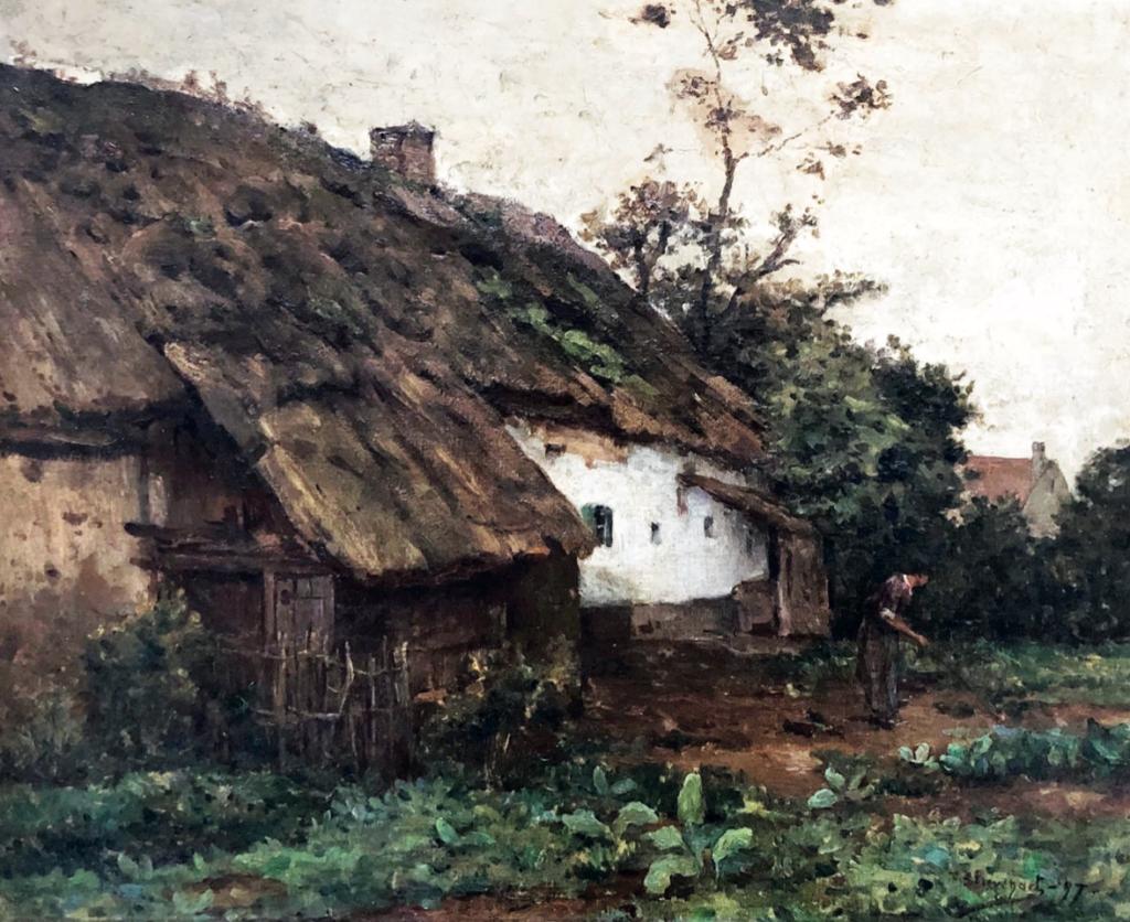 «Ferme à Wissant» par Fernand Stiévenart, huile sur toile (61cm x 50cm), 1897, collection Yann Gobert-Sergent.